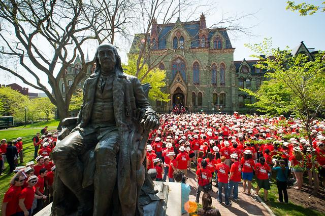 Ben Franklin statue during Hey Day